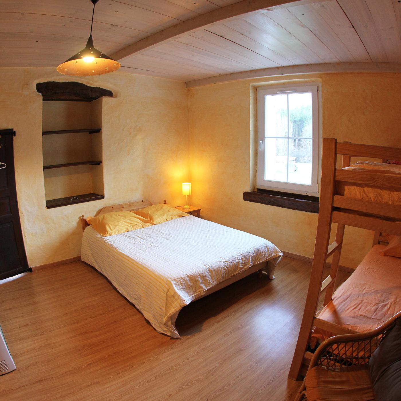 Chambre maison du milieu